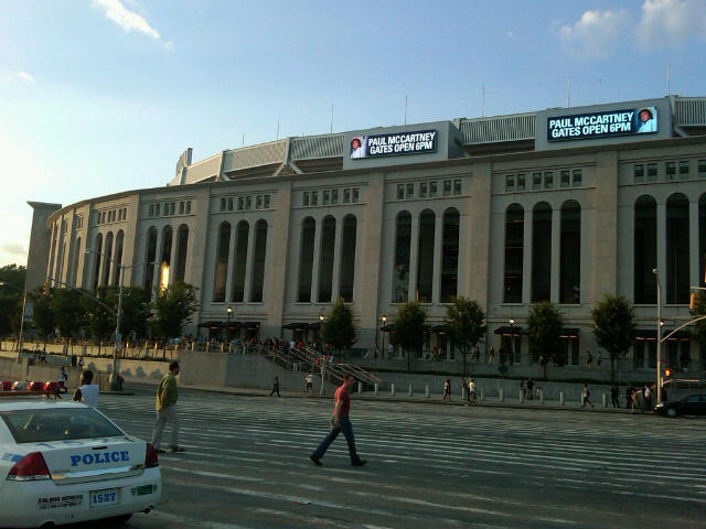 Paul at Yankee Stadium